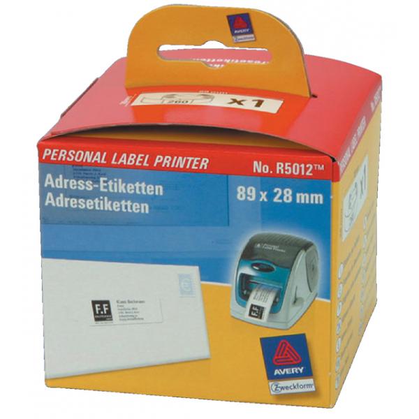 Etiket avery zweck labelprint r5012 89x28mm