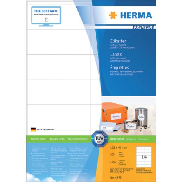 Etiket herma superprint 4452 105x42mm 1400st