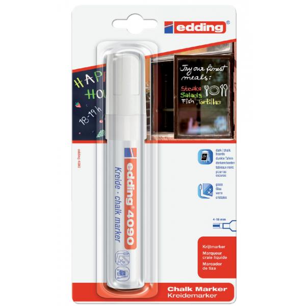 Viltstift edding 4090 window schuin 4-15mm wit