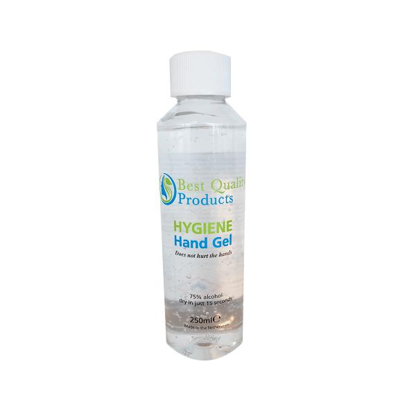 BQP, hygienische handgel, 75% alcohol, 250ml