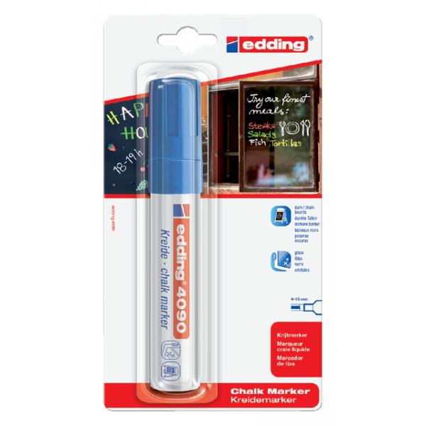 Viltstift edding 4090 window schuin 4-15mm blauw