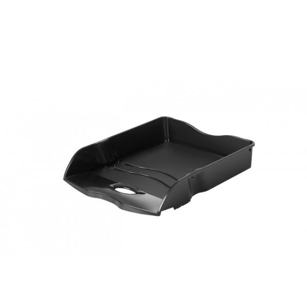 Brievenbak re-loop a4 stapel- & nestbaar, zwart(ha-10298-913