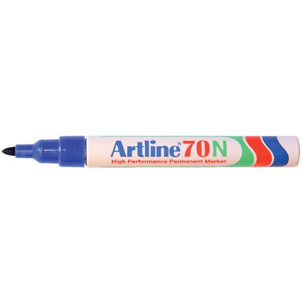 Viltstift artline 70 perm rond 1.5mm blauw