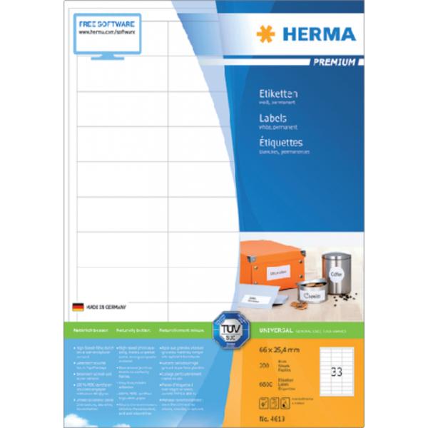 Etiket herma superpr 4613 66x25.4mm 6600st