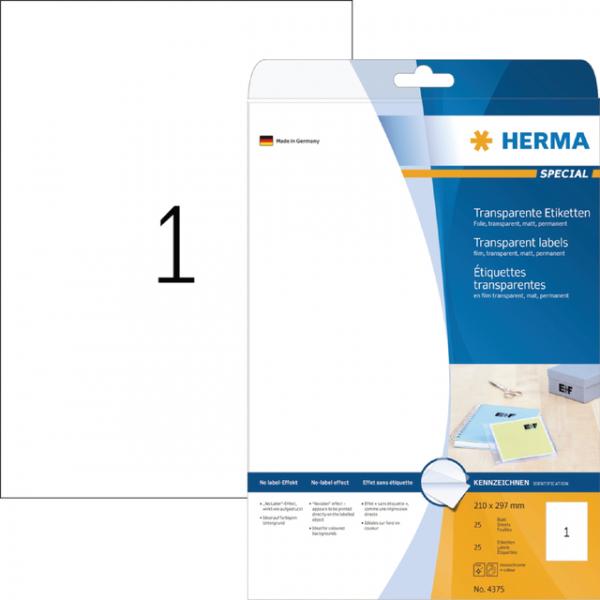 Etiket herma superprint 4375 a4 folie tr