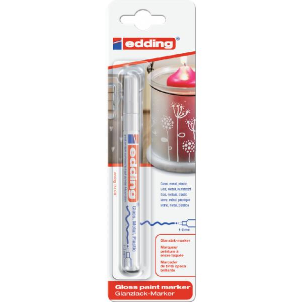 Viltstift edding 751 lak perm rond 2mm wit