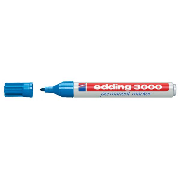 Viltstift edding 3000 perm rond 1.5-3mm lichtblauw