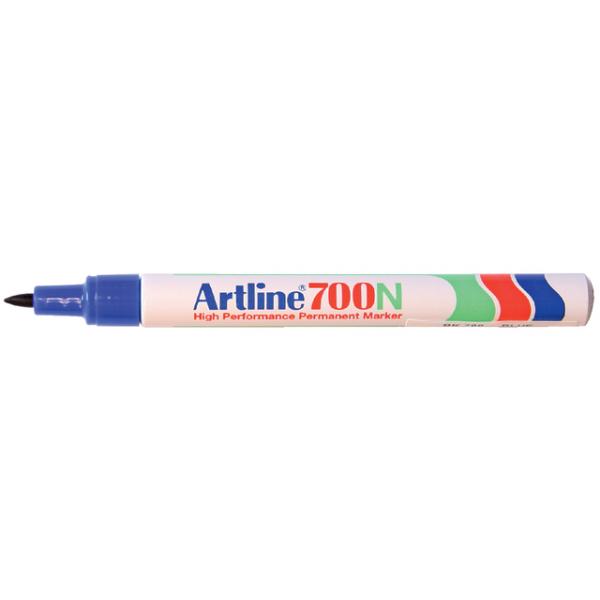 Viltstift artline 700 perm rond 1mm blauw