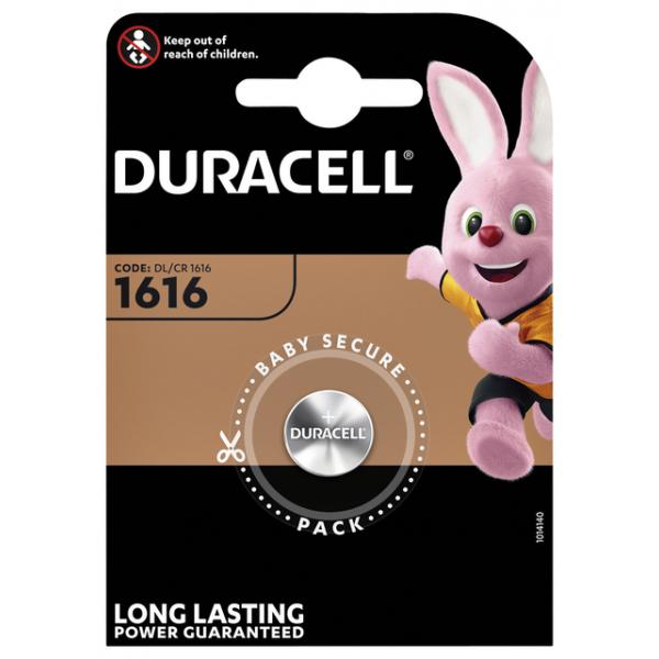 Batterij duracell dl1616 lithium knoopcel