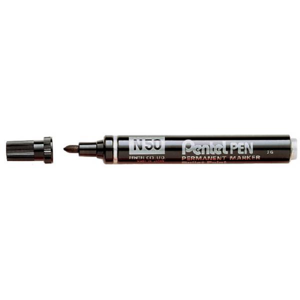 Viltstift pentel n50 perm rond 1.5-3mm zwart