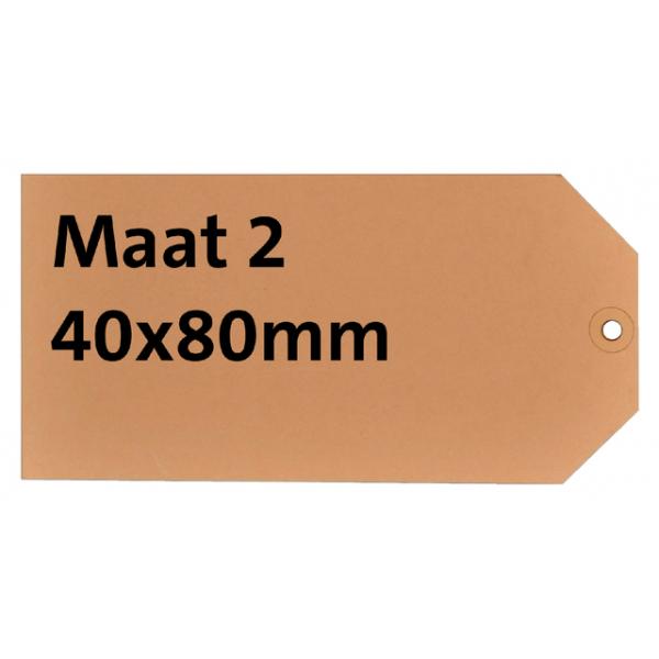 Label karton nr2 200gr 40x80mm chamois ds/1000