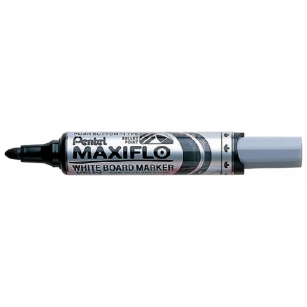 Viltstift pentel mwl5m maxiflo whiteboard 3mm zw