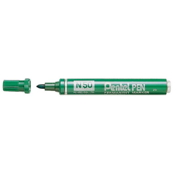Viltstift pentel n50 perm rond 1.5-3mm groen