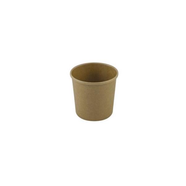 Kartonnen soepbeker, 500ml, kraft , PLA (25 stuks)