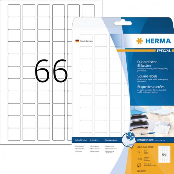 Etiket herma inkprint 8831 25.4x25.4mm 1650st