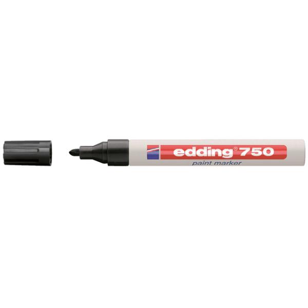 Viltstift edding 750 lak perm rond 2-4mm zwart