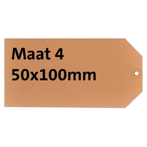 Label karton nr4 200gr 50x100mm chamois  ds/1000
