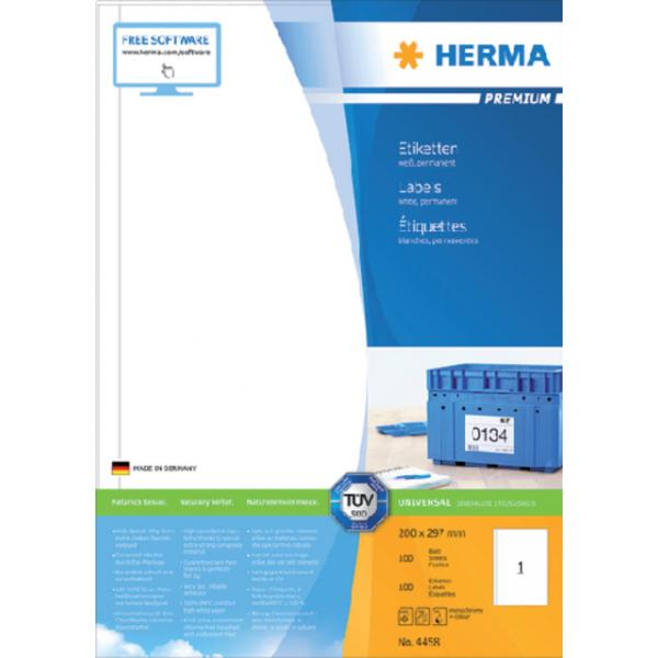 Etiket herma superprint 4458 200x297mm 100st