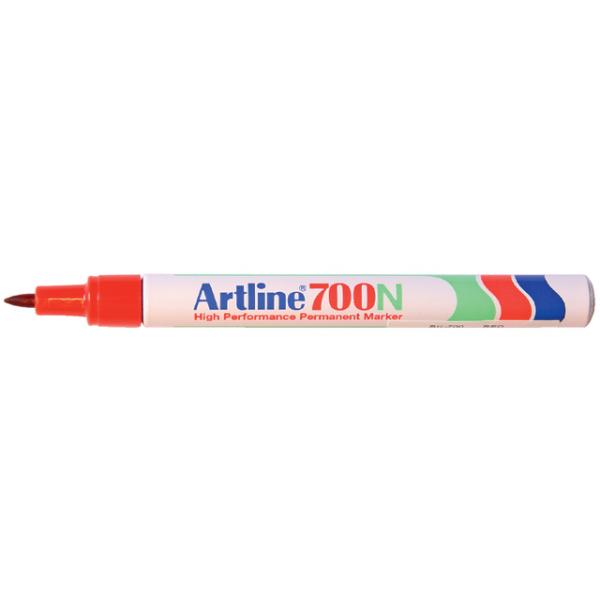 Viltstift artline 700 perm rond 0.7mm rood