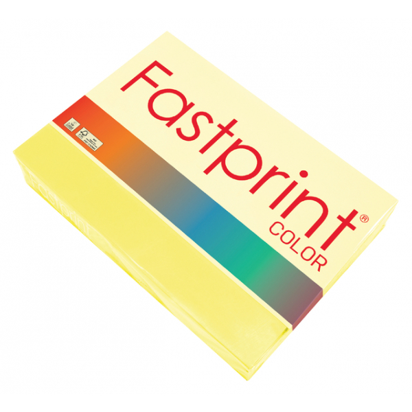 Kopieerpapier fastprint a4 80gr zwavelgeel