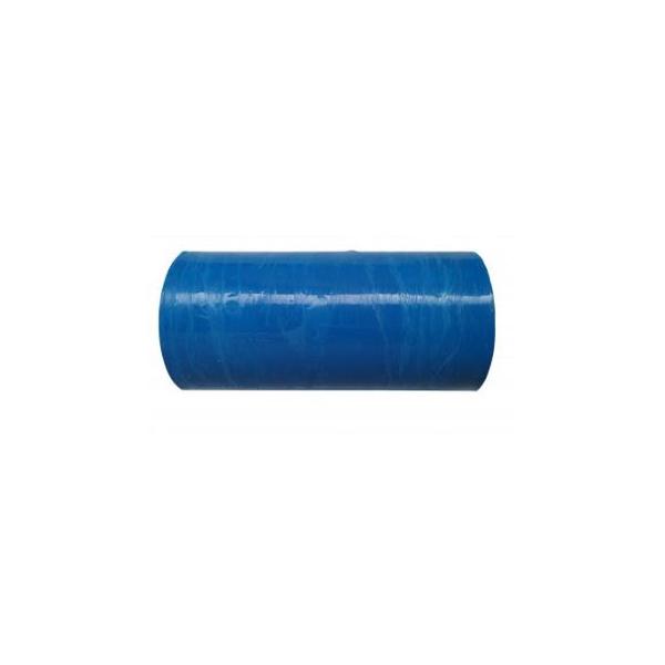Buisfolie, LDPE, 25cm breed, transparant blauw (rol 10 kg)