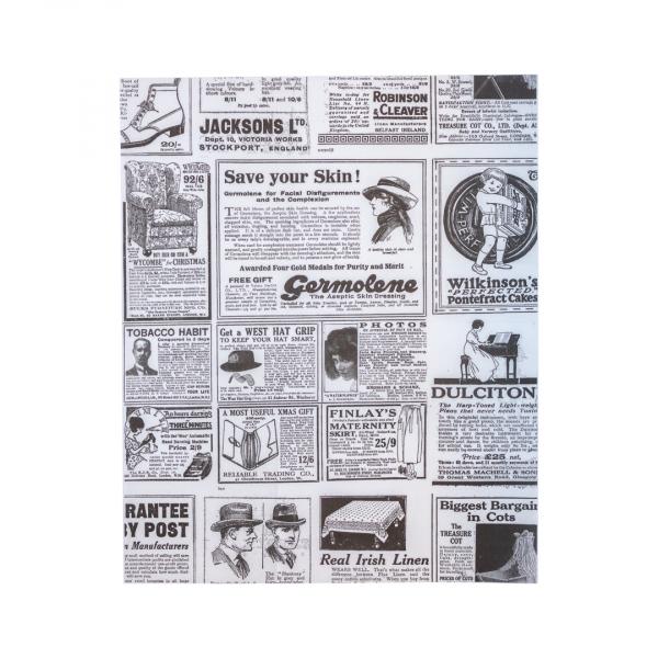 Wikkelpapier, ongebleekt ersatz, 28x34cm, krant (1000 stuks)