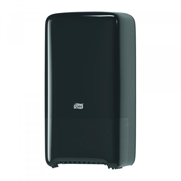 Tork, twin toiletpapier dispenser, mid-size, zwart T6 557508