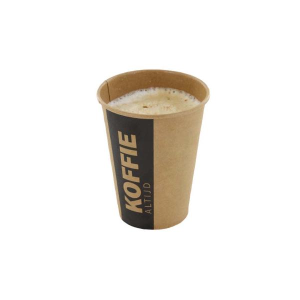 Koffiebeker, 250cc, 90mm,  Altijd Koffie (1000 stuks)
