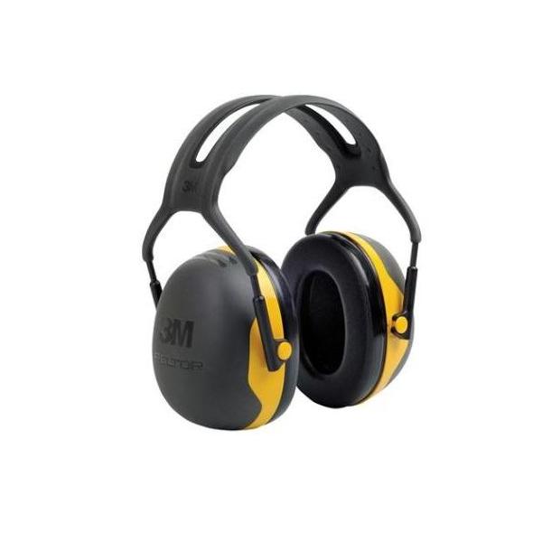 3-M Peltorkap, X2, hoofdbevestiging, geel