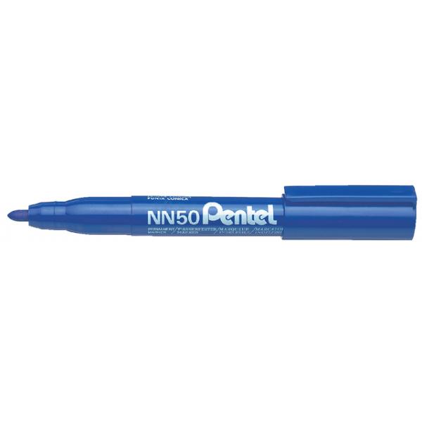 Viltstift pentel nn50 perm rond 1.5-3mm blauw
