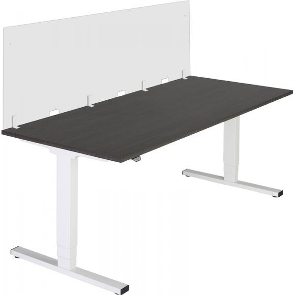 Acrylaat bureauscherm, 80x90cm, zijpaneel ten behoeve van bureau
