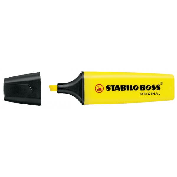 Markeerstift stabilo boss 7024 geel