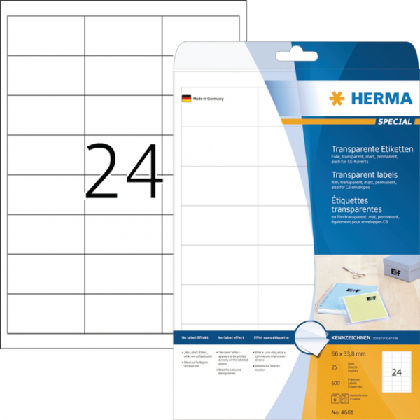 Etiket herma superprint 4681 66x33.8mm tr 600st