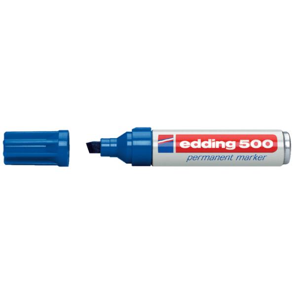 Viltstift edding 500 perm schuin 2-7mm blauw