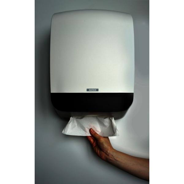 Dispenser katrin system m vouwhanddoek 90168 wit(2039236)