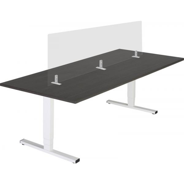 Acrylaat vrijstaand, 40x120cm, bureauscherm ten behoeve van vergadertafel