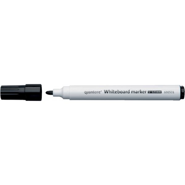 Viltstift quantore whiteboard rond 1-1.5mm zwart