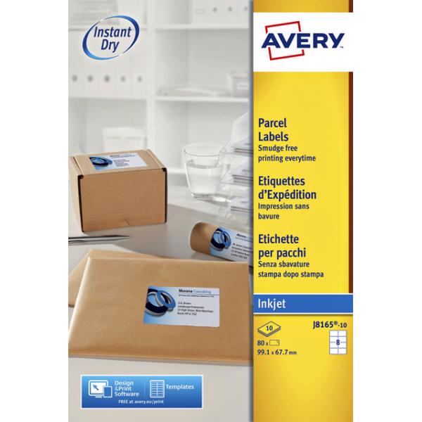 Etiket avery j8165-10 99.1x67.7mm 80st
