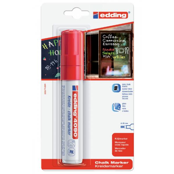 Viltstift edding 4090 window schuin 4-15mm rood
