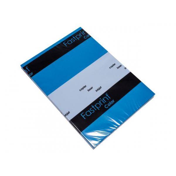 Kopieerpapier fastprint-100 a4 80gr diepblauw  pk/100vel