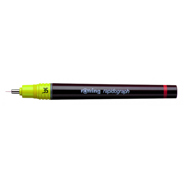 Tekenpen rotring 155035 rapidograph 0.35mm geel