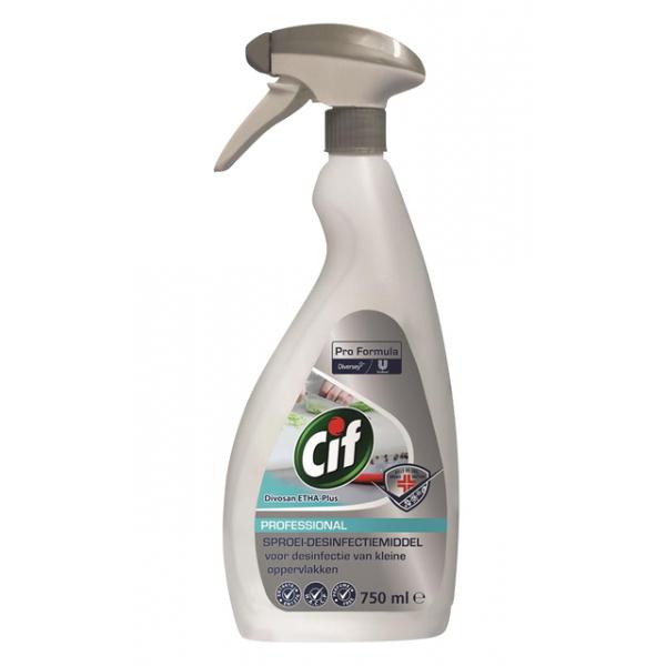 Desinfectiemiddel cif ethades plus spray 750ml(101104398)