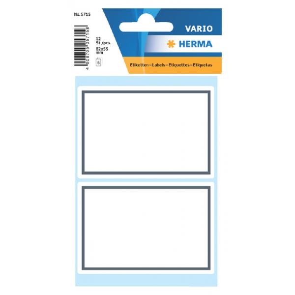 Etiket schrift herma 5715 53x80mm kader grijs 12st
