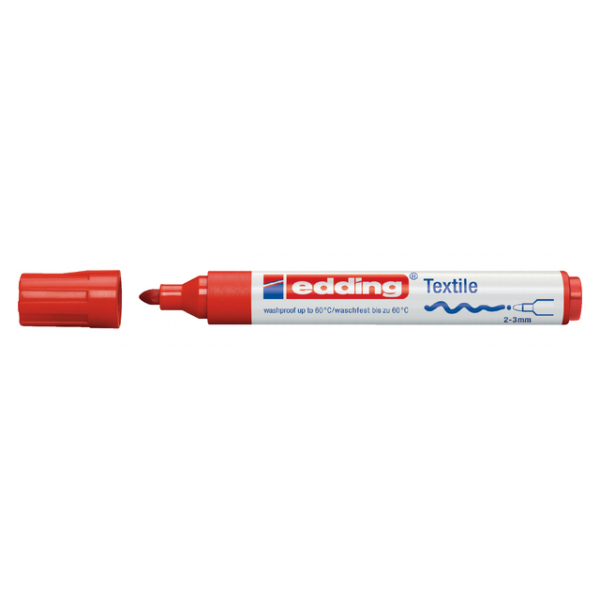 Viltstift edding 4500 textiel rond 2-3mm rood