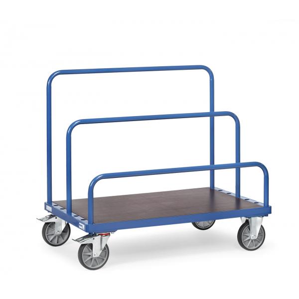 Platenwagen voor insteekbeugels, 1600x800mm Draagverm.1200kg