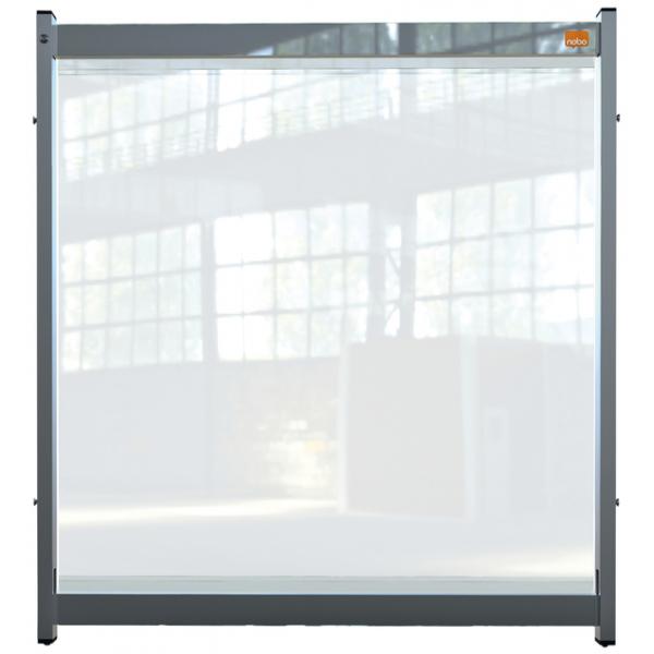 Bureauscherm nobo modulair doorzichtig pvc 750x820mm(1915550
