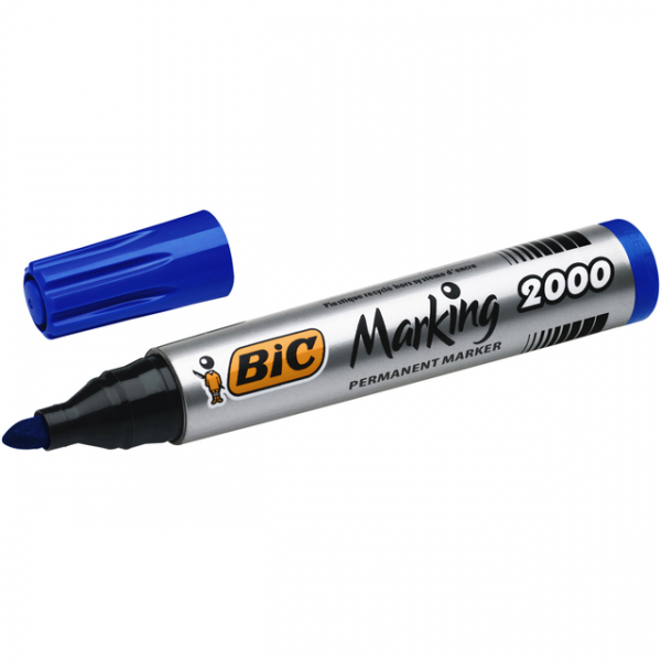 Viltstift bic 2000 perm rond 2.5mm blauw