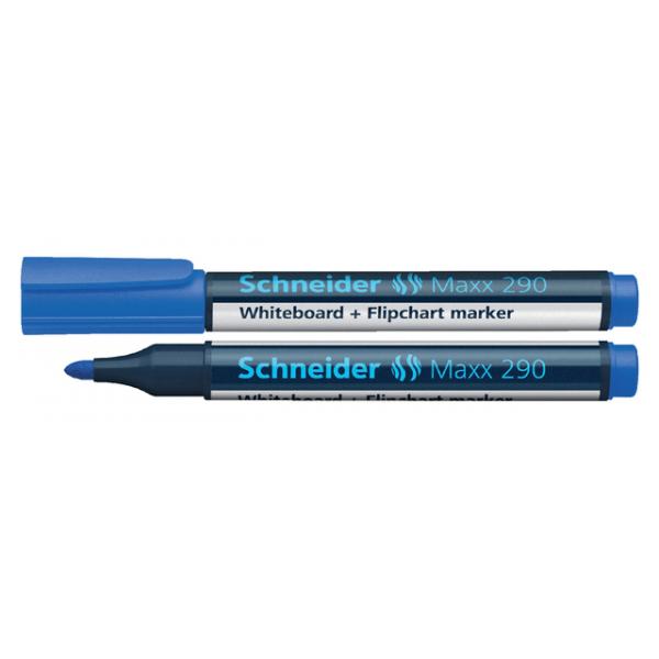 Viltstift schneider 290 whiteboard rond 3mm blauw
