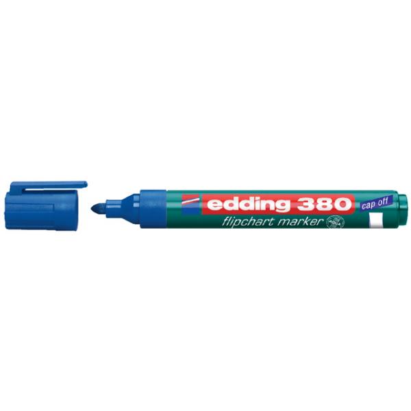 Viltstift edding 380 flipover rond 2mm blauw