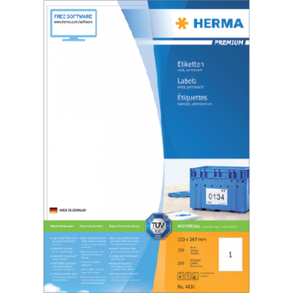 Etiket herma superprint 4631 a4 200st